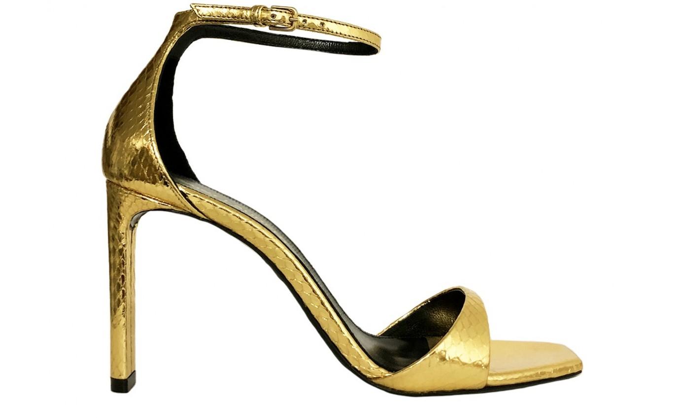 Chaussure Talon SAINT LAURENT BEA cuir Python Or 9cm