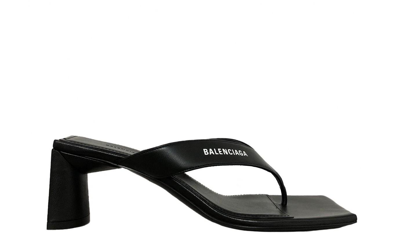 Chaussure BALENCIAGA TONG cuir noir