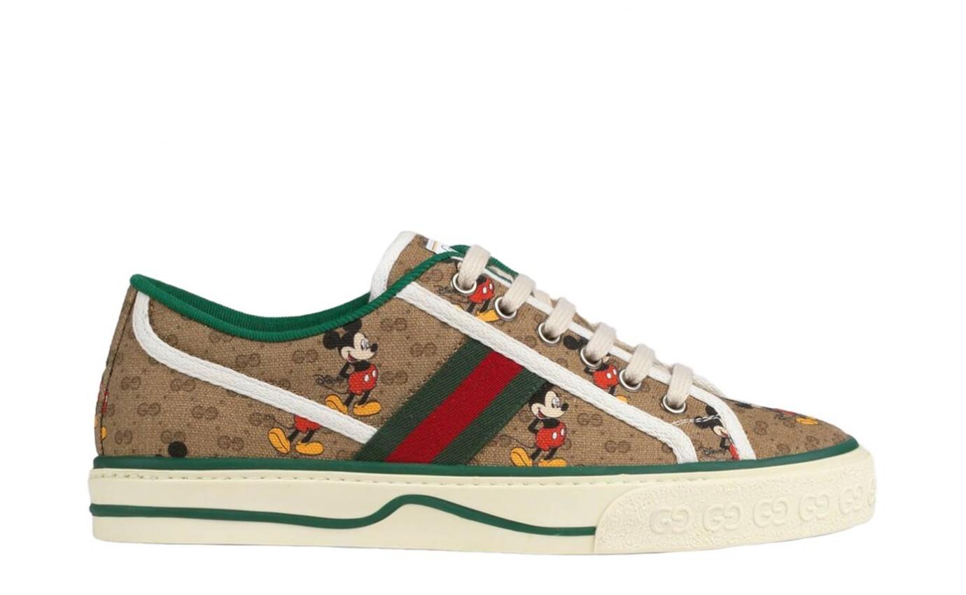 Sneakers GUCCI VUCAN Disney GG Bande verte et rouge