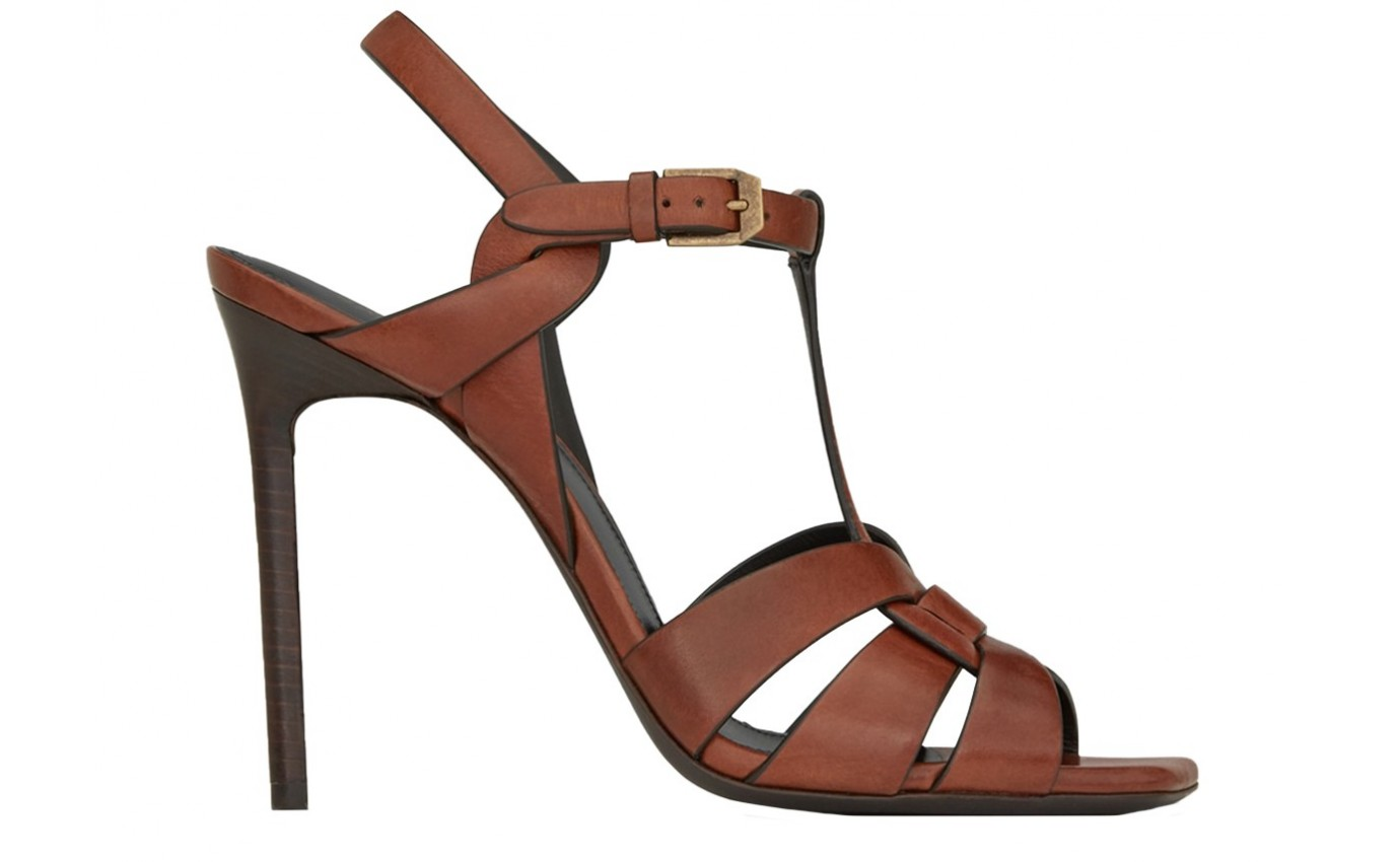 Chaussure SAINT LAURENT TRIBUTE Caramel Talon