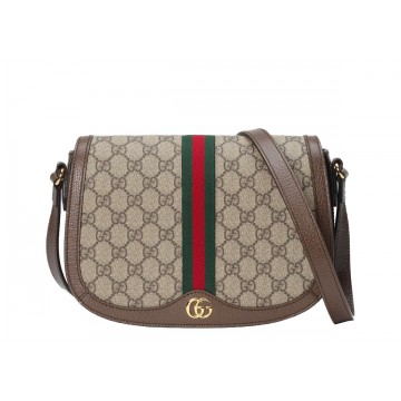 Sac de luxe Femme Gucci besace Ophidia en toile GG avec galon vert et rouge