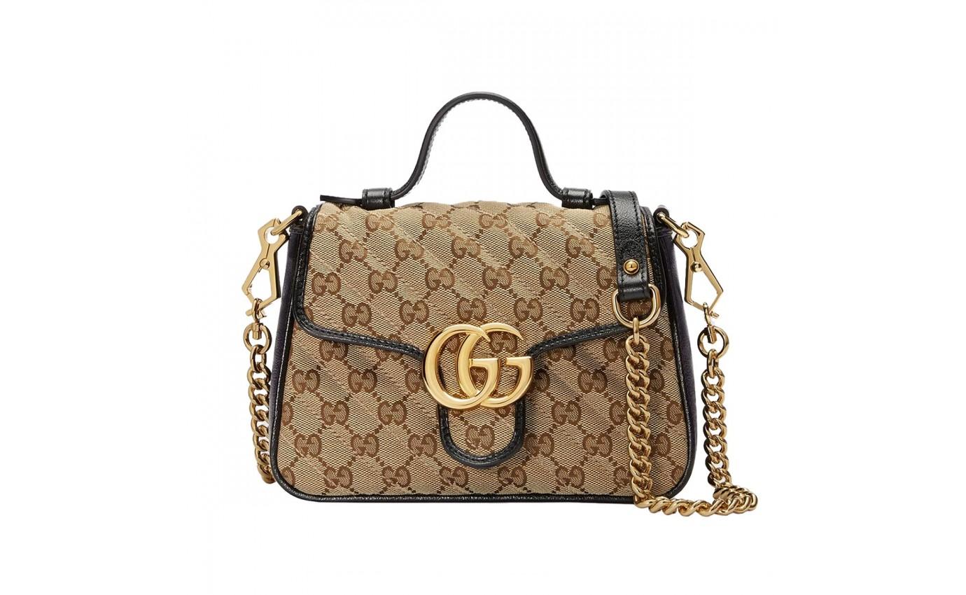 SAC de luxe Gucci BANDOULIERE GG MARMONT TOILE SMALL