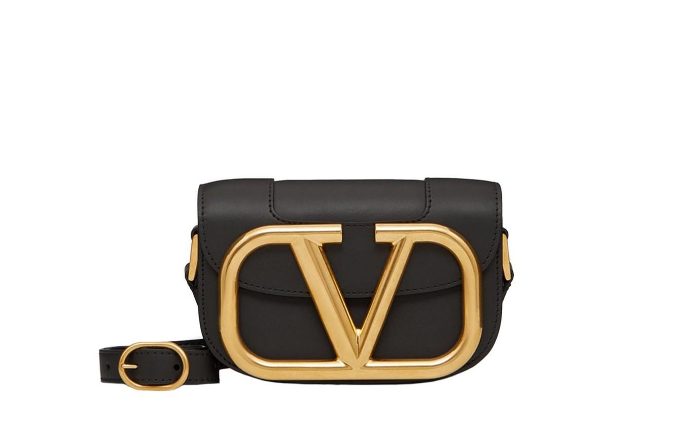 Sac de luxe femme VALENTINO Supervee small noir