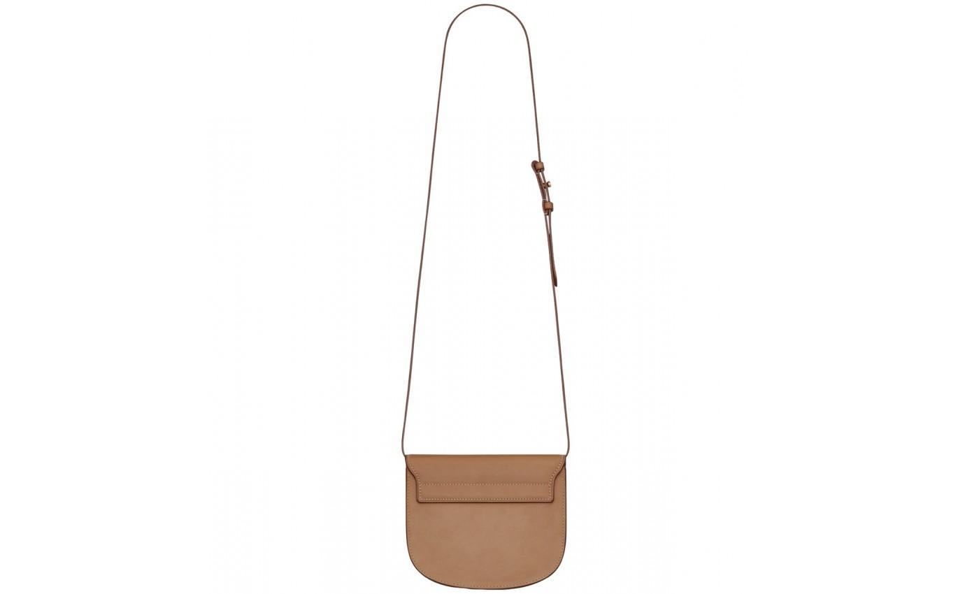 Boutique Parenthese Saint Laurent Kaia small en cuir tan
