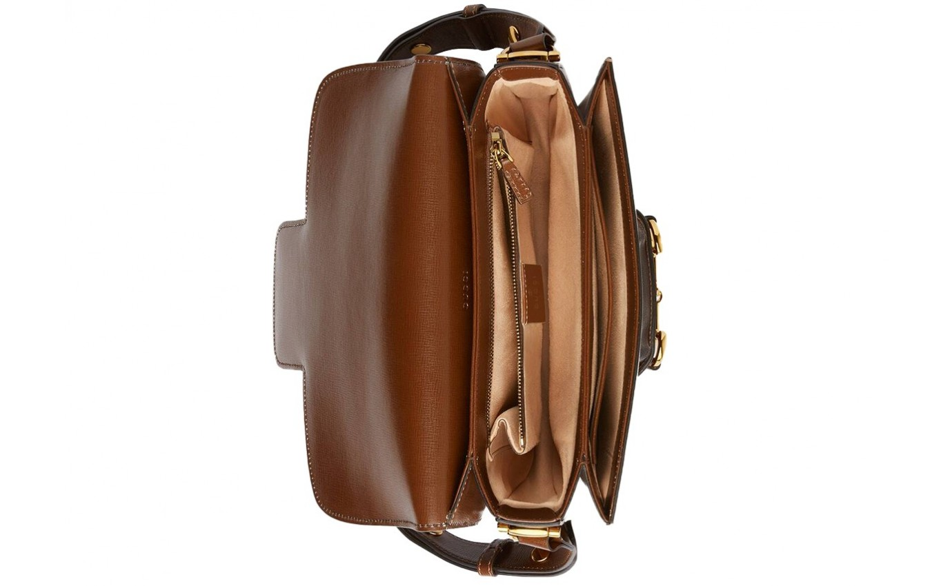 Boutique Parenhese Gucci Sac de luxe Horsebit en cuir marron
