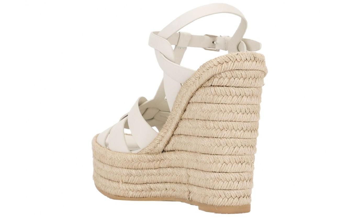 Chaussure SAINT LAURENT COMPENSE ivoire