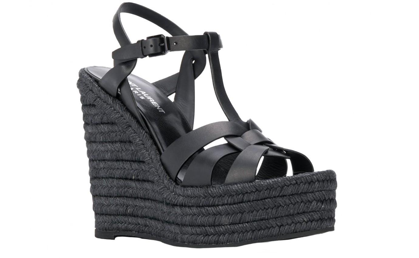Chaussure SAINT LAURENT COMPENSE noir