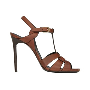 Chaussure SAINT LAURENT TRIBUTE Caramel Talon