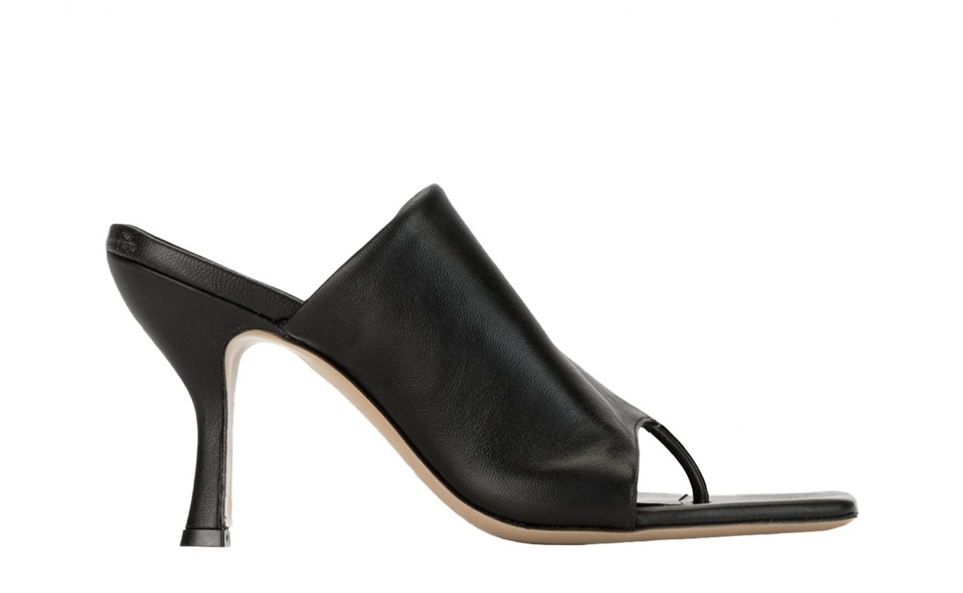 Chaussure de luxe femme GIA COUTURE X PERNILLE TEISBAEK Mule à talon Perni 02 en cuir noir