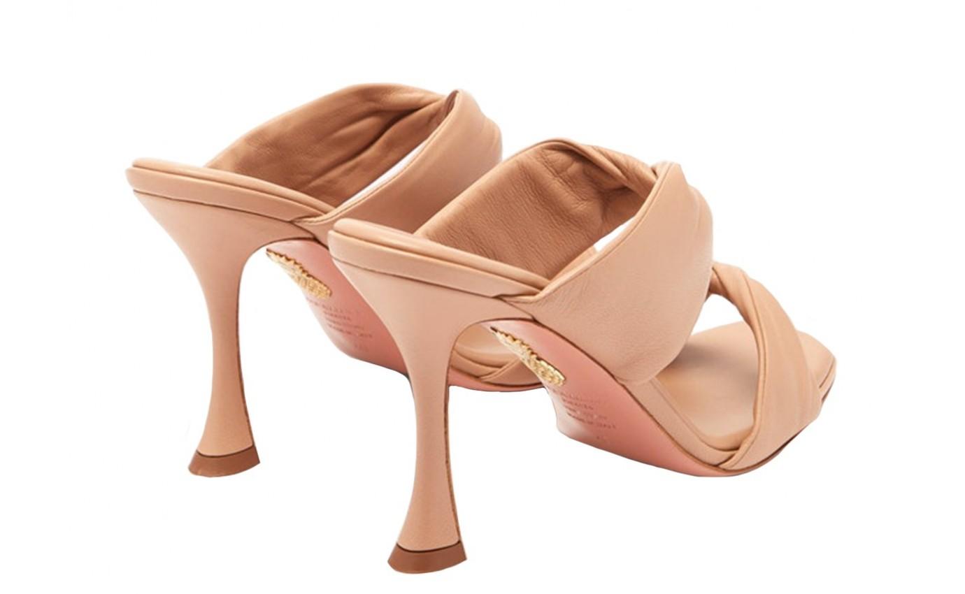 Chaussure de luxe pour femme Aquazzura mule Twist à talon aiguille nude