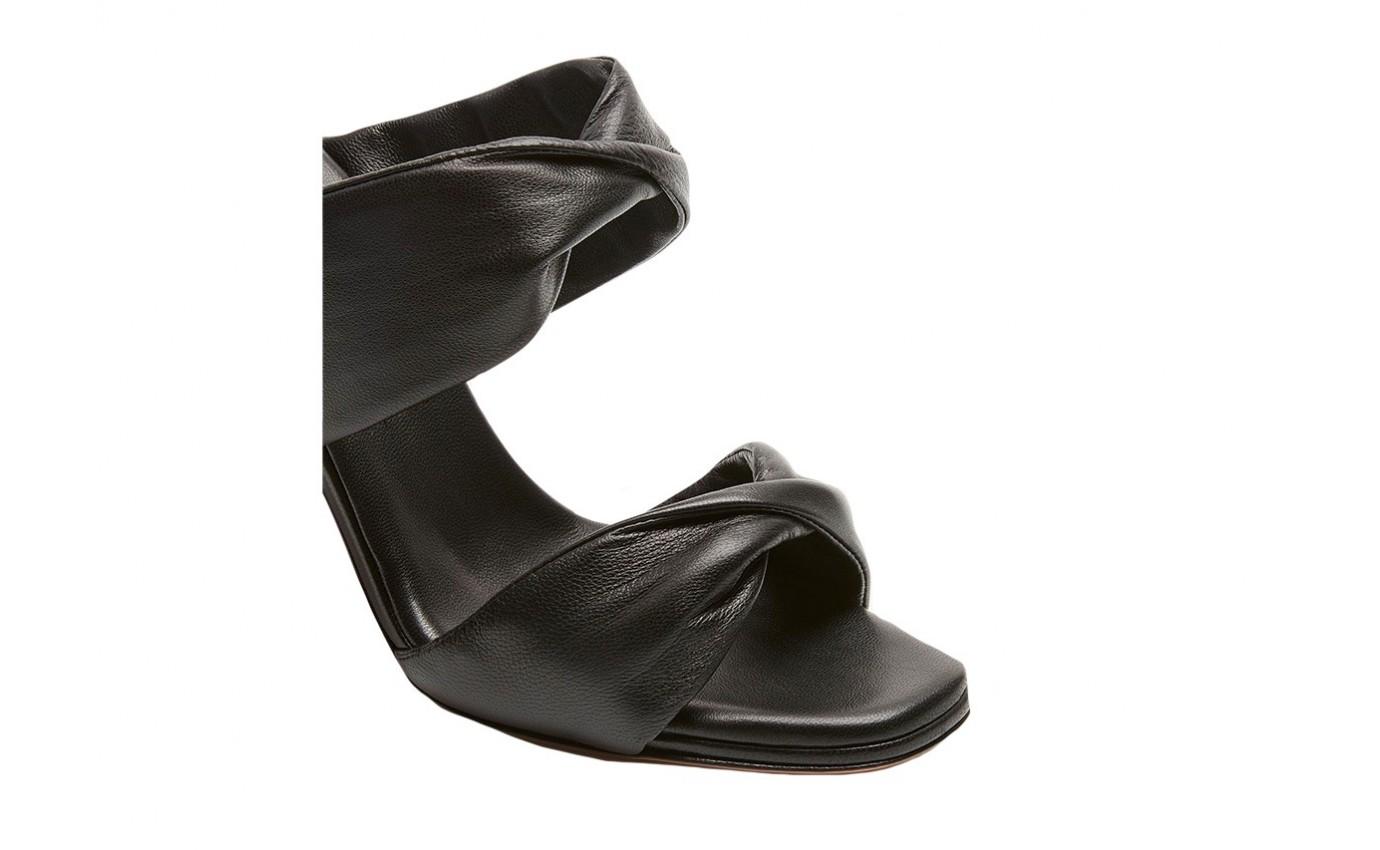 Chaussure de luxe pour femme Aquazzura mule Twist à talon aiguille noir