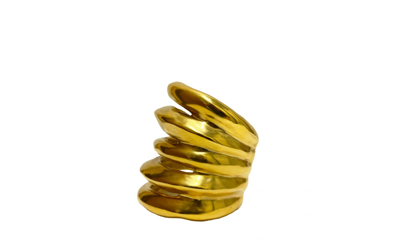 """Bijoux pour femme de luxe. Manchette """"Spirale"""" Goossens en laiton"""