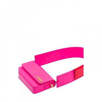 Sac de luxe pour femme Jacquemus Le Carinu cuir rose