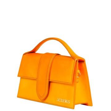 Sac de luxe pour femme Jacquemus Bambino grand cuir orange