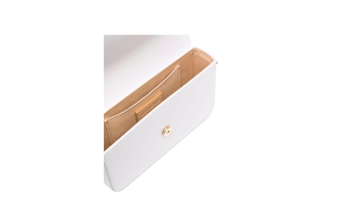 Sac de luxe pour femme Jacquemus Le Carinu cuir blanc