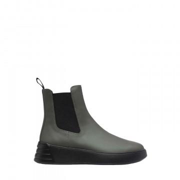 Chaussure de luxe pour femme Hogan Chelsea boot en cuir vert