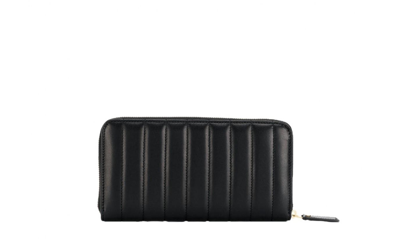 Portefeuille SAINT LAURENT MONOGRAMME cuir noir